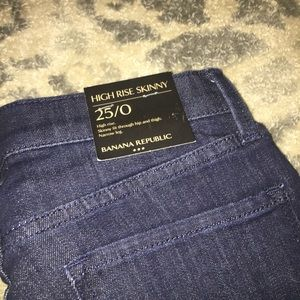 Banana republic high rise skinny jeans size 25